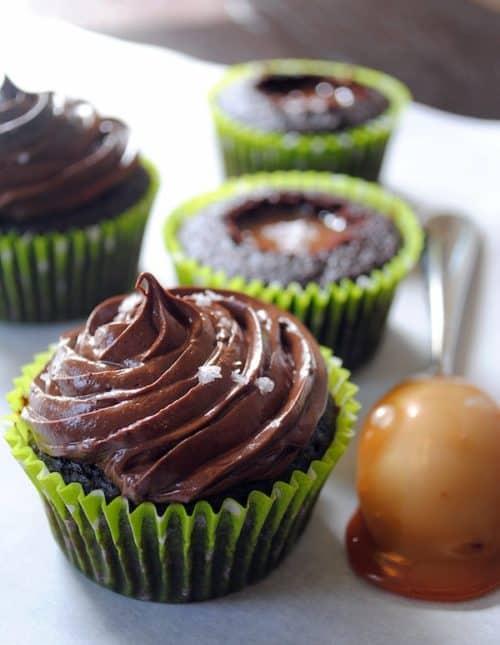 "Chocolate Salted Caramel Cupcakes, Stout Cupcakes & Triple Citrus Cupcakes from ""Martha Stewart's Cupcakes"" | foxeslovelemons.com"