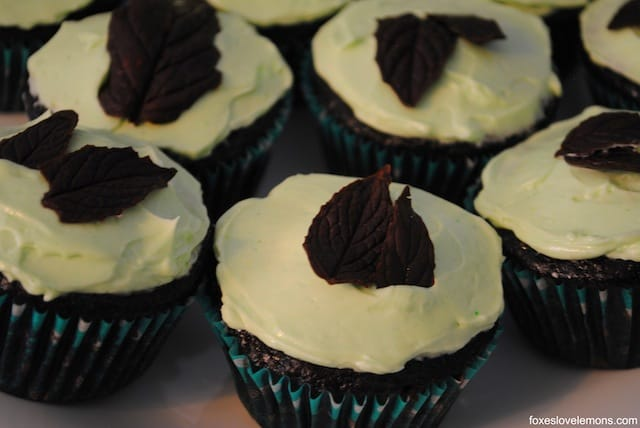 "Chocolate Mint Cupcakes - from ""Martha Stewart's Cupcakes"""