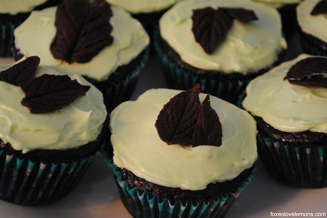 "Chocolate Mint Cupcakes - from ""Martha Stewart's Cupcakes""   foxeslovelemons.com"
