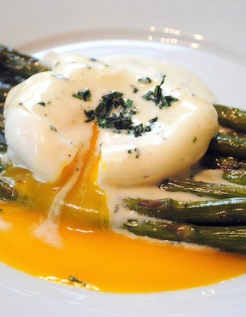 Roasted Asparagus with Lemon-Mustard Sauce - Want to impress your guests at brunch? Try this easy but elegant dish that makes you look like a star!   foxeslovelemons.com