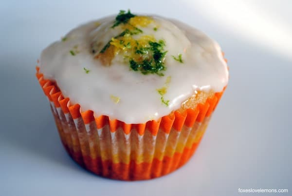 "Triple Citrus Cupcakes from ""Martha Stewart's Cupcakes"" 