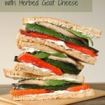 Grilled Vegetable Sandwiches with Herbed Goat Cheese #SundaySupper