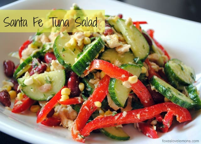 Santa Fe Tuna Salad - An easy cold salad for lunch or a light dinner in the summer. | foxeslovelemons.com