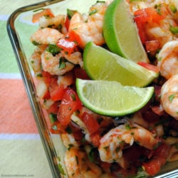 Shrimp Ceviche - A spicy, tangy, fresh appetizer or side dish. | foxeslovelemons.com