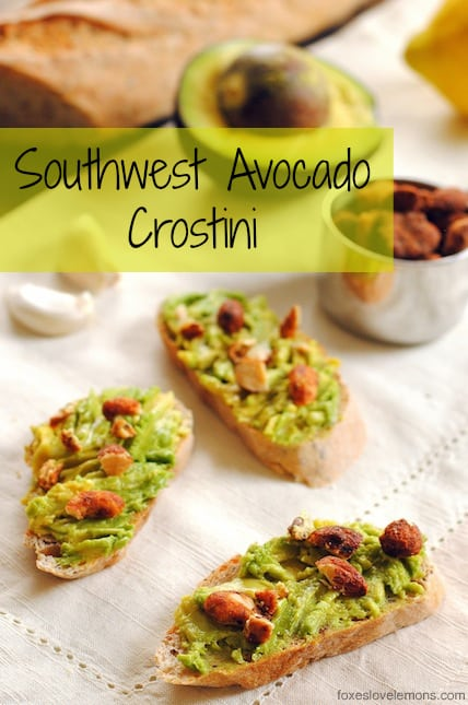 Southwest Avocado Crostini - A tasty 5-minute appetizer!