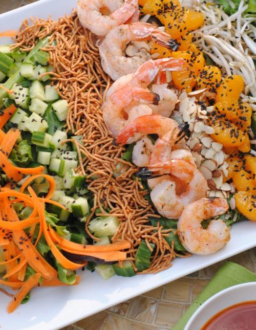 Asian Shrimp Salad with Gochujang Dressing – a cold, crunchy, refreshing salad for a warm day. | foxeslovelemons.com