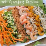 Asian Shrimp Salad with Gochujang Dressing #WeekdaySupper