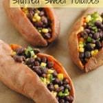 Black Bean and Corn Stuffed Sweet Potatoes (Pinterest Challenge)