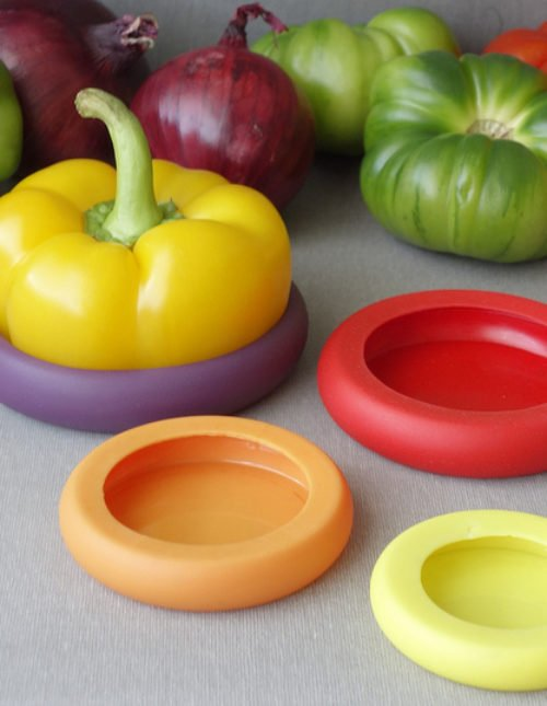 Food Huggers - preserve your leftover fruits and veggies with a tight seal. | foxeslovelemons.com
