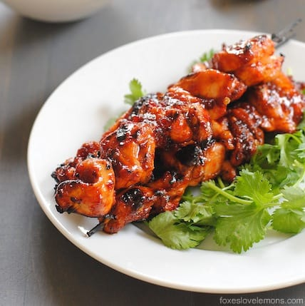 Sambal Chicken Skewers - seriously spicy, but balanced with sweetness. Addictive!!!