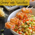 Spicy Chipotle Mango Shrimp with Succotash