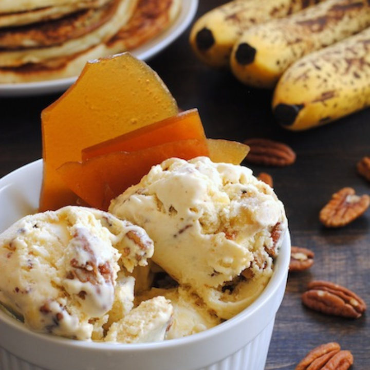 Banana Pancake Ice Cream with Maple Brittle