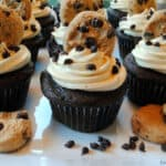 Chocolate Chip Cookie Dough Cupcakes (Pinterest Challenge)