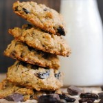 Dark Chocolate and Dried Cherry Oatmeal Cookies
