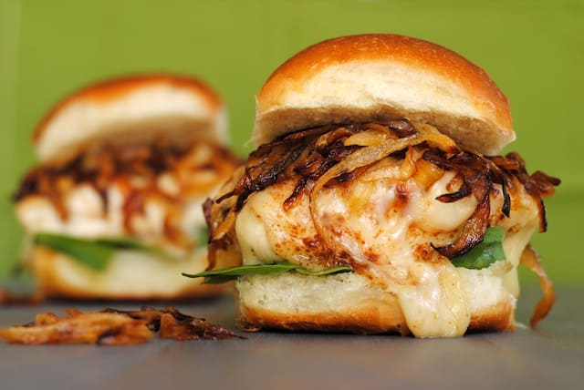 French Onion Chicken Sandwiches - all of the flavor of French Onion Soup, in a chicken sandwich!