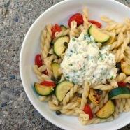 Squash & Ricotta Gemelli Saute - a simple, flavorful pasta dish that's a breeze to prepare. | foxeslovelemons.com