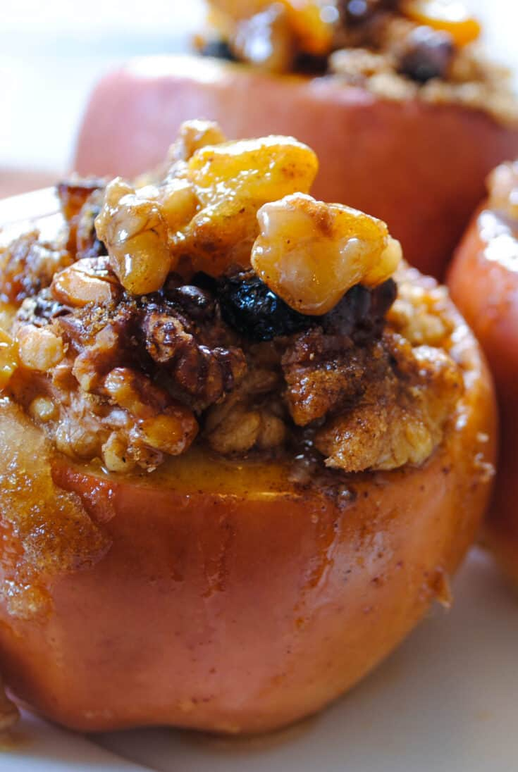 Walnut Stuffed Baked Apples With Video Foxes Love Lemons