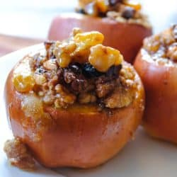 Walnut-Stuffed Baked Apples - an easy fall treat for a crowd, or for just a few! |foxeslovelemons.com