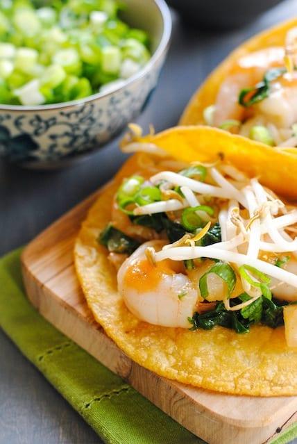 Thai Ginger-Lemongrass Shrimp Tacos