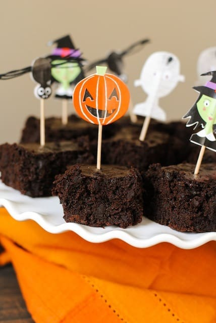 """Trick or Beet"" Brownies - delicious chocolaty brownies that use beets in place of some of the oil. Nobody will notice a difference in the flavor of the this nutritious swap!"