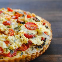 "Very Full Tart from ""Plenty"" – a flavorful and beautiful vegetable tart.   foxeslovelemons.com"