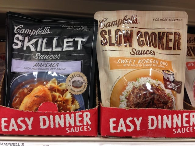 Campbell's Skillet & Slow Cooker Sauces