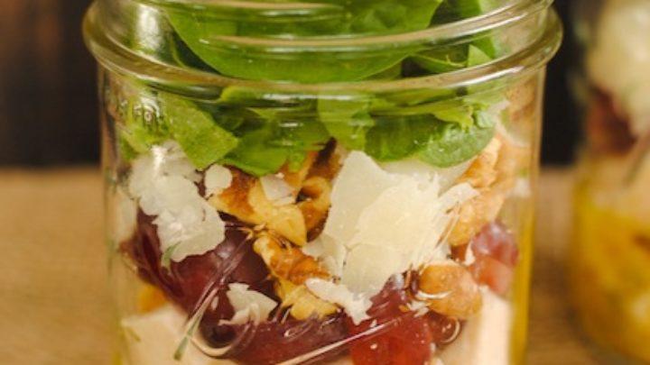 Chicken & Spinach Salad Jars