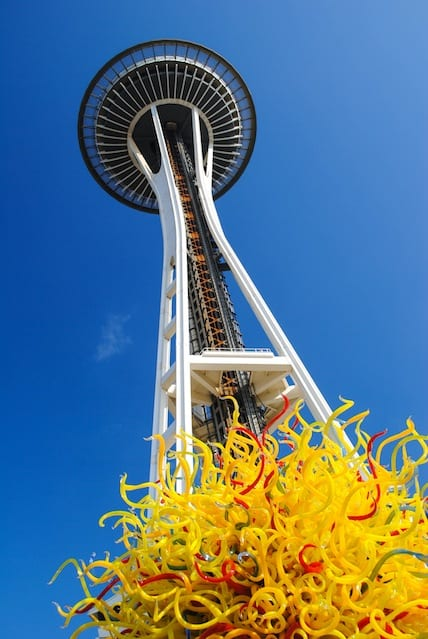 Space Needle at Chiluly Seattle