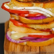 Brie, Tomato & Red Onion Grilled Cheese | foxeslovelemons.com