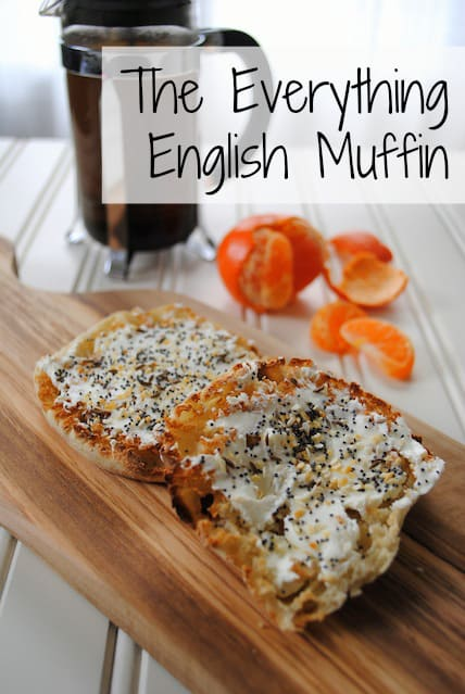 The Everything English Muffin: tastes exactly like an everything bagel, with just 1/3 of the calories!!