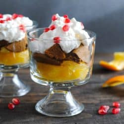 Pomegranate, Orange & Gingersnap Parfaits - a light, fruity dessert full of seasonal flavors! | foxeslovelemons.com