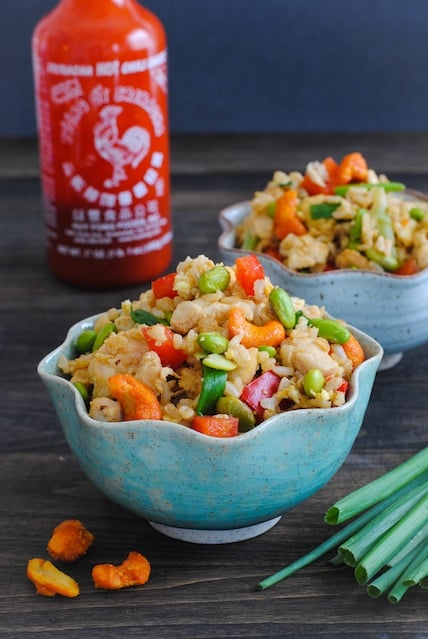 Sriracha-Cashew Chicken Fried Rice