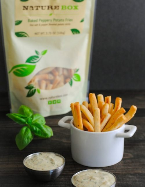 Pesto Ranch Dipping Sauce - A versatile and delicious homemade ranch dip. Serve with potato chips, crackers or veggies, or use as a salad dressing or sandwich spread! | foxeslovelemons.com