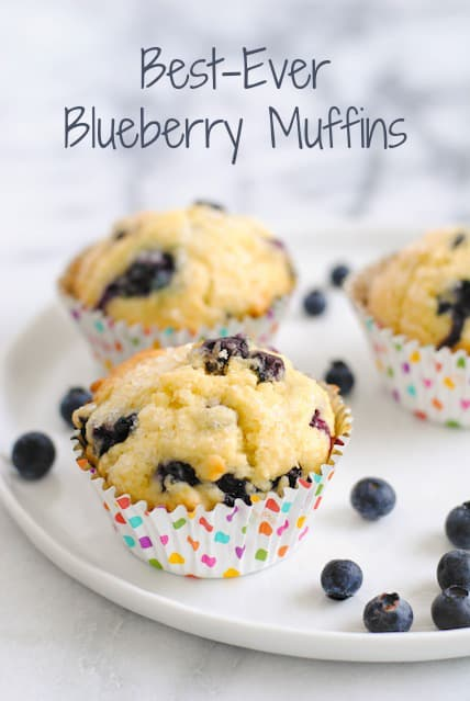 Best-Ever Blueberry Muffins - Moist, flavor-packed blueberry muffins flecked with lemon zest and finished with crunchy sugar for a coffee shop-style muffin.
