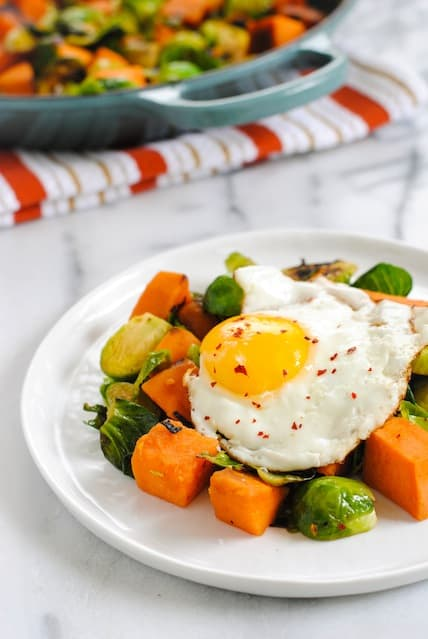 Sweet Potato & Brussels Hash
