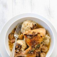 Chicken and Dumplings with Mushrooms | www.foxeslovelemons.com