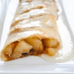 Perfect Pear Strudel - A special yet simple weekend breakfast, with a sweet vanilla glaze. | foxeslovelemons.com