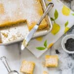 Meyer Lemon Bars with Poppyseed Crust #SundaySupper