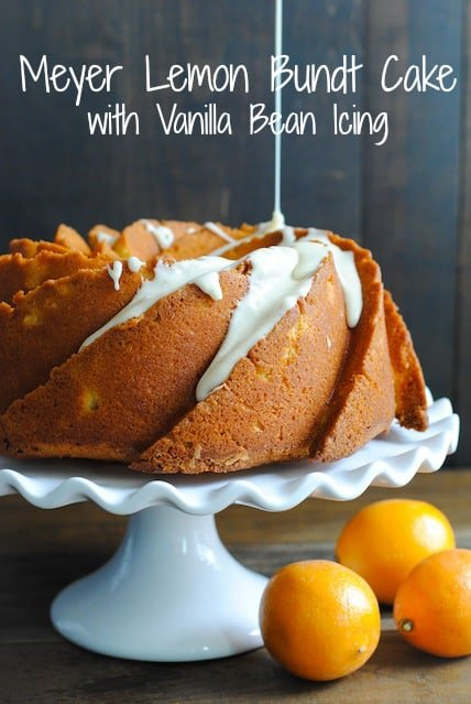 Meyer Lemon Bundt Cake with Vanilla Bean Icing | www.foxeslovelemons.com