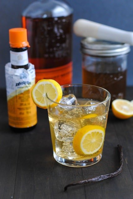 Meyer Lemon-Vanilla Bean Bourbon Smash | www.foxeslovelemons.com