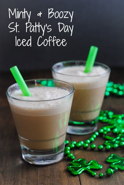 Minty & Boozy St. Patty's Day Iced Coffee | www.foxeslovelemons.com