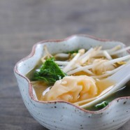 Shrimp Wonton Soup with Kale - Fold your own wontons at home. It's fun, and way easier than you would think!   foxeslovelemons.com