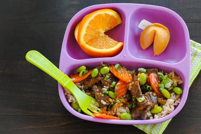 Orange Beef & Veggie Stir-Fry - Kid-friendly takeout fake-out at home! | foxeslovelemons.com