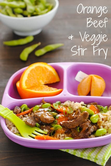 Orange Beef & Veggie Stir-Fry - Kid-friendly takeout fake-out at home!