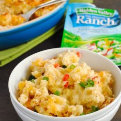 Ranch and Pimento Mac & Cheese - Creamy macaroni and cheese combined with the craveable flavor of ranch dressing! | foxeslovelemons.com