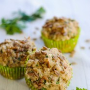 Savory Sunflower Seed Muffins - Healthy buttermilk muffins flavored with ranch spices, cheese and sunflower seeds. The perfect addition to a family dinner! | foxeslovelemons.com