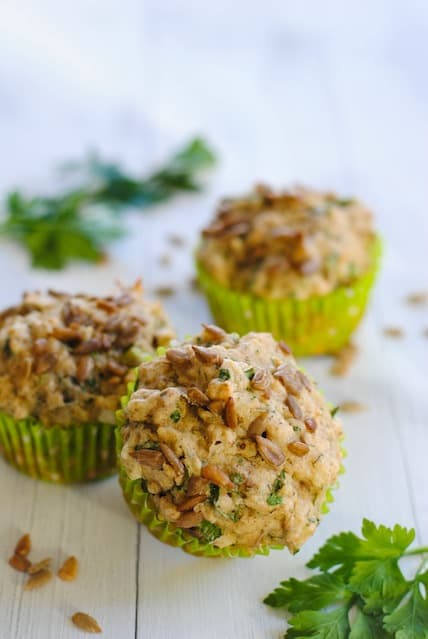 Savory Sunflower Seed Muffins