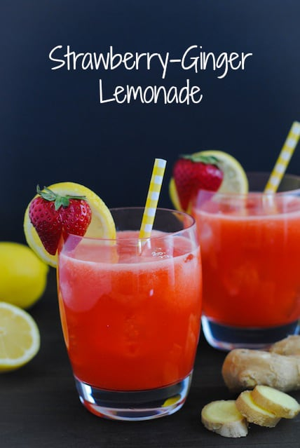 Strawberry-Ginger Lemonade - A unique and refreshing twist on classic lemonade! | foxeslovelemons.com