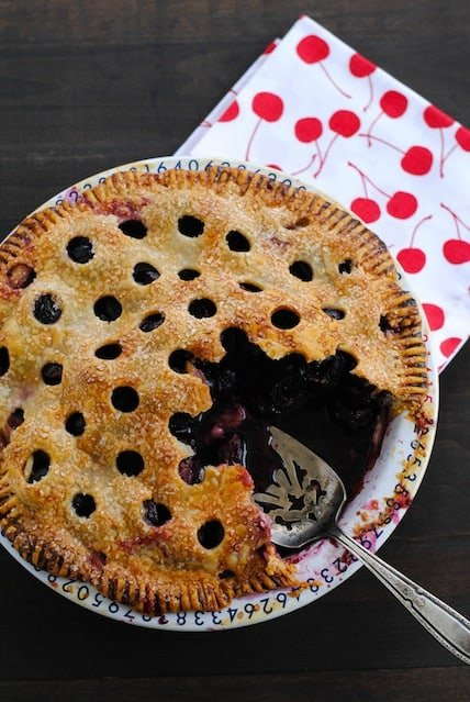"""Cherry Pie Fail - A failed attempt at the """"Sour Cherry Pie"""" recipe from the June 2014 issue of Bon Appetit 