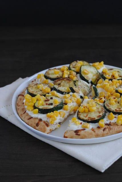 Zucchini & Corn Mini Pizzas